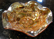 Millersburg BLACKBERRY WREATH Radium Marigold Carnival Glass Sauce Berry ca 1910