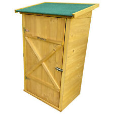 More details for woodside wooden garden storage cupboard outdoor tool store shed