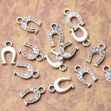 Tibetan silver plated horse shoe charm pendants  50pcs  EF3530