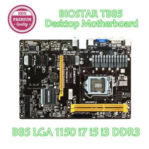 Biostar TB85 Desktop Motherboard 6GPU 6PCI-E B85 LGA 1150 DDR3 16G SATA3 USB 3.0