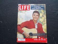 1958 DECEMBER 1 LIFE MAGAZINE - RICKY NELSON - L 1133