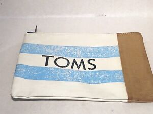 TOM's Shoes Faux Leather Zippered Pouch