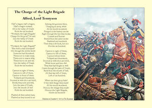 """""""The Charge of the Light Brigade"""" by Alfred Lord Tennyson (1854)"""