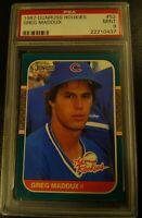 1987 Donruss Rookies Greg Maddux PSA 9 MINT #52 Cubs Braves 🔥📈 PSA 10 regrade?