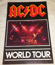 AC/DC: 1980 back in black tour book/program complete