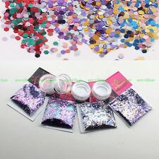 40g/Set DIY Gel Acrylic Nail Art Tips Glitter Sequins Carnival Purple Gradient
