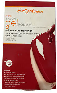 Sally Hansen Salon Gel Manicure Starter Kit W/ LED Lamp Red My Lips