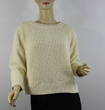 Polo Ralph Lauren Womens Sweater Medium Beige Cream Knit Cotton