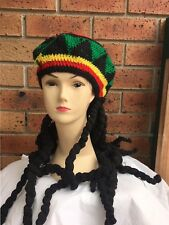 **NEW Rasta Beanie hat with black Dreadlocks wig/wigs - Halloween/Party/Costume