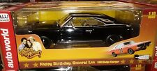 Dukes of Hazard 1969 Dodge Charger Die-cast Car 1:18 Auto World 10 inch BLACK