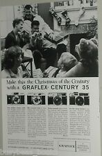 1959 Graflex Camera advertisement, Graflex Century 35, 35A, 35N, 35NE, Christmas