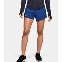 """Under Armour Women's 3"""" Fly By Running Shorts, Blue, Size M, NwT"""