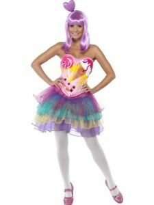 Candy Queen Ladies Fancy Dress Katy Perry Pop Star Celebrity Adults Fun Costume