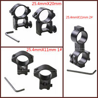Rifle Pistol Airsoft Scope Sight High Ring Mounts 25.4mm Diameter Weaver Rail