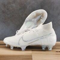 Nike Mercurial Superfly 7 Elite FG White - Size Men's 4 = Youth 4 (AQ4174-100)