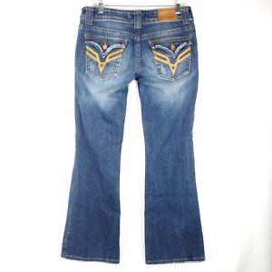 Vigoss Fit Boot Cut Size 7 Blue Jeans Distressed
