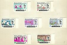 SELANGOR MALAYSIA 1965 Orchids Set SG 136 to SG 142 MINT HINGED MH