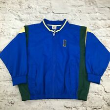 Vintage Nike Age 10 / 12 Track Jacket Blue Green Yellow 1980s 90s Shell Court UK