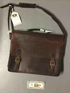 NOS New Melvill and Moon Leather Safari Bag Briefcase Messenger Bag