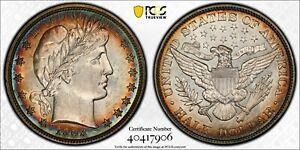 1903 Barber Half Dollar - PCGS AU - Scarce - Beautiful Rim Toning