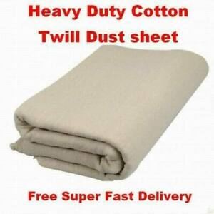 3.6 X  3.6M (12 X 12 ft) CANVAS BOLTON TWILL DUST SHEET PAINTING DECORATING
