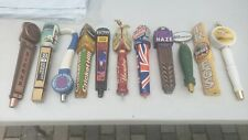 Lot Of 11 Beer Tap Handles used yuengling Sierra spitfire cricket hill bitburger