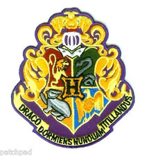 FINE BRITISH EMBROIDERED HARRY POTTER HOGWARTS SCHOOL CREST WIZARD IN TRAINING Ψ