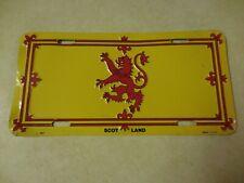 SCOTLAND FLAG~ LICENSE PLATE~USA made (used)  #2401 ships FREE