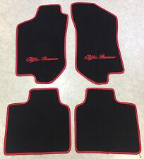 Autoteppich Fußmatten für Alfa Romeo 145 146 schwarz rot 1994-2001 4teilig Neu