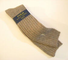 Ralph Lauren Ladies Socks Tall Rib Wool Blend w/ Polo Pony Hemp - NEW