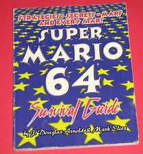 Super Mario 64 Survival Guide (Nintendo N64) secrets, maps, stars