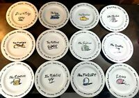Pottery Barn MILLENIUM DECADE Salad/Dessert Plates -Set of 12~PRISTINE~