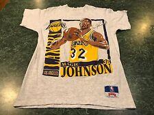 Vintage Nutmeg Mills Magic Johnson Double Sided T-Shirt ADULt Size Medium *RARE*