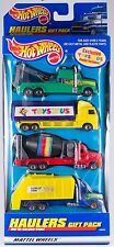 Hot Wheels Haulers 4 Pack Cement Mixer Garbage Truck Tow Toys R Us NEW 1998