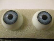 16 mm Vintage Blue Glasaugen Glass Eyes 10 mm Iris W. Germany Doll Mannequin  AL