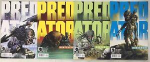 4x PREDATOR HUNTERS lll comic # 1 & 2 ~ Dark Horse ~ A & B VARIANT 2020 ~ Unread