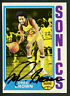 Fred Brown #125 signed autograph auto 1974-75 Topps Basketball Trading Card