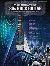 The Greatest '80s Rock Guitar Sheet Music Guitar Tablature Book NEW 000701554