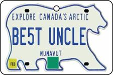 NUNAVUT - BEST UNCLE LICENSE PLATE CAR AIR FRESHENER