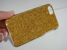 Gold Yellow Made with Swarovski Crystals Bling Glitter Shiny Case Cover iPhone 5