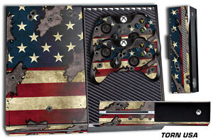 Skin for XBOX ONE 1 Console 2 Controller Graphics Sticker Wraps Decal USA TORN