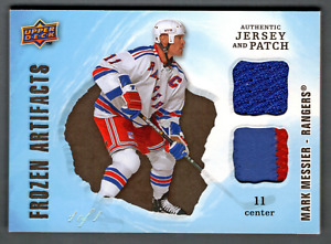 2008-09 UD Artifacts Black Patch & Jersey Mark Messier #1/1 Rangers Frozen