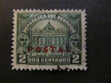 1927 - ECUADOR - OVERPRINTED IN RED - SCOTT 267 PT6 2C