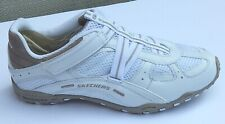SKECHERS INTUITION WHITE WOMEN'S SNEAKERS VELCRO CLOSURE sz 6 NEW AUTHENTIC