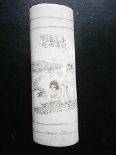 CHINE ART  PLAQUETTE CHINOISE EN OS YACK SCENES EROTIC CHINA SEX SEXE EROS