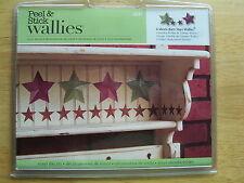WALLIES BARN STARS 32 self stick wall decals Country Rustic Farm decor scrapbook