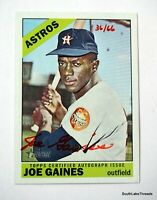 2015 TOPPS HERITAGE REAL ONE RED AUTO JOE GAINES RED INK #'d 36/66