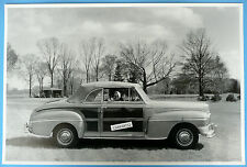 "12 By 18"" Black & White Picture 1946 Mercury Sportsman Convertible Top Up"