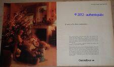 PUBLICITE DE 1983 CARREFOUR NOEL OURS MOINEAUX SUPERMARCHE FRENCH PUB AD IMPACT