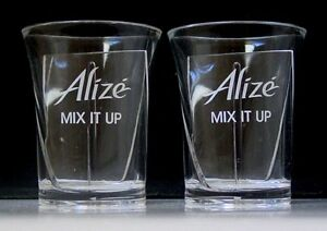 ALIZE MIX IT UP ACRYLIC SHOT GLASSES - Pair - Collectibles